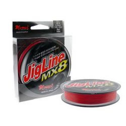 MOMOI JIGLINE MX8 300MTR/SPOOL 0.23MM (#2) 40LB/18KG RED