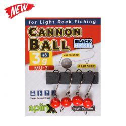 Spiinx Cannon Ball Kırmızı Jig Head
