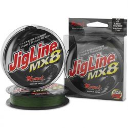 MOMOI JIGLINE MX8 300MTR/SPOOL 0.18MM (#1.2) 25LB/12KG MOSS GREEN