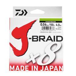 Daiwa JBraid 8B Chartreuse 0,18mm 150m İp Misina