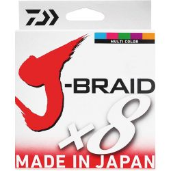 Daiwa J-Braid x8 Multi Color 0,35mm 36kg 300m İp Misina