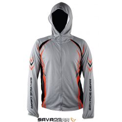 Savage gear SunProtec Zip Hoodie Grey