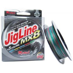 MOMOI JIGLINE MX8 150MTR/SPOOL 0.28MM (#3) 50LB/22KG MULTI COLOR