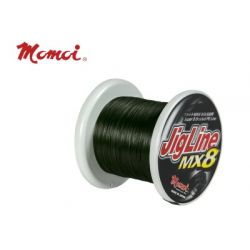 MOMOI JIGLINE MX8 500MTR/SPOOL 0.37MM (#5) 70LB/32KG MOSS GREEN